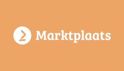Nieuwe logo van marktplaats wit