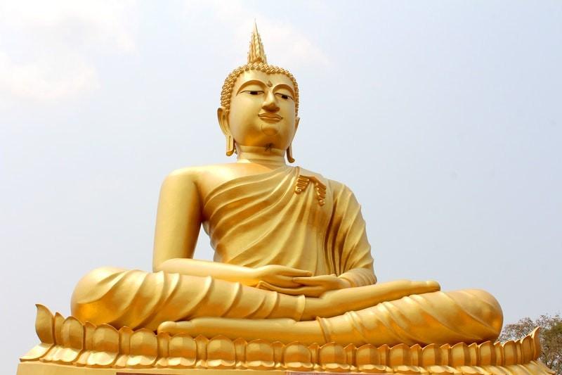 Gouden Beeld van Siddharta Gautama Boedha