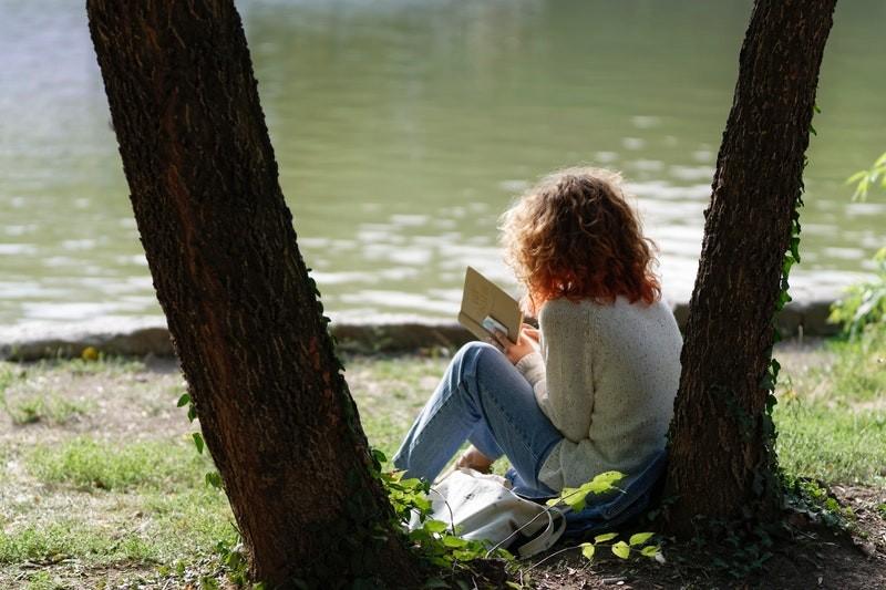 Geen luisterboeken top 10 voor deze mevrouw aan het water, maar een klassiek boek