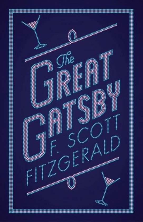 Dark Blue cover of the Great Gatsby