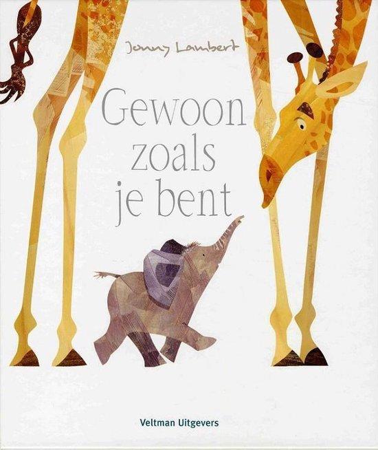 Giraffe en olifant op de cover van jonny lambert