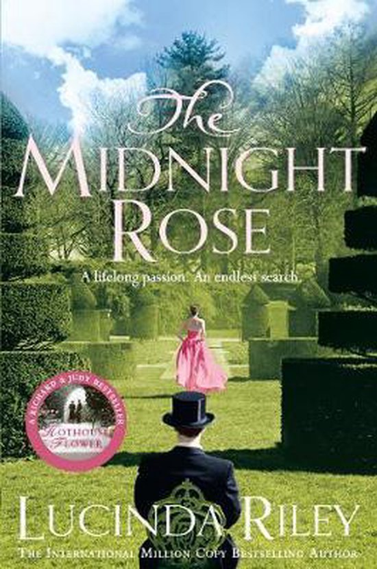 Lucinda Riley midnight rose man with a hat an pink dress lady cover
