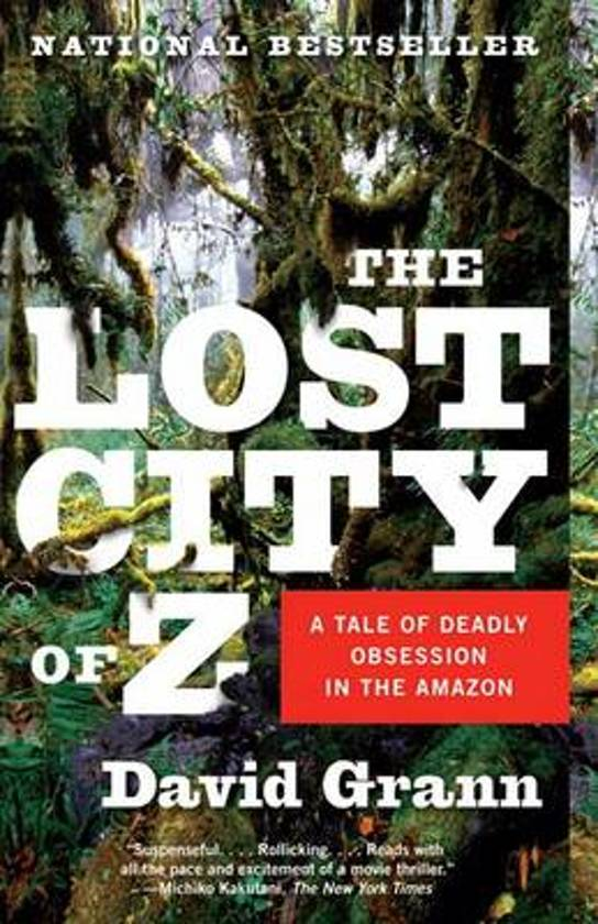 David Grann book cover lost city of z