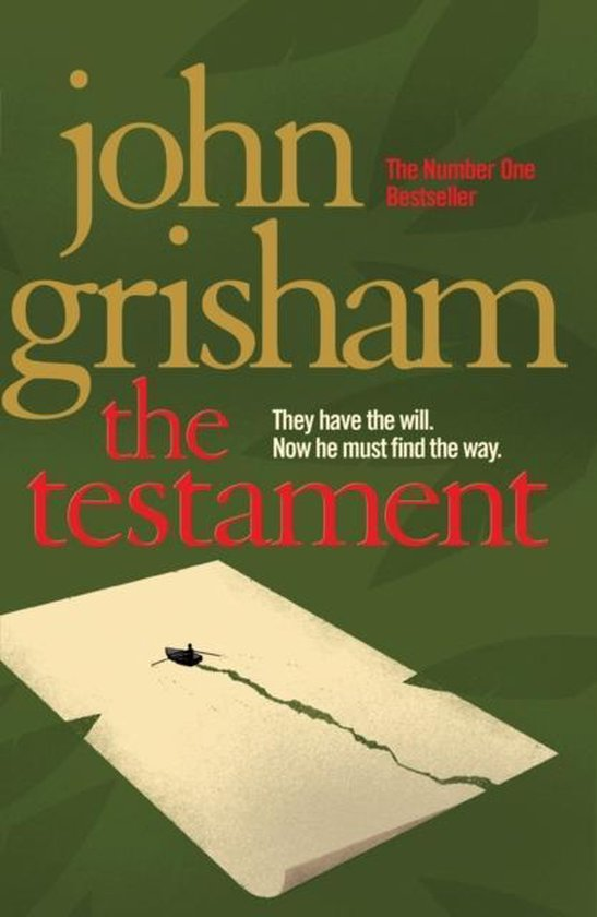 Groene hardcover van het testament boek van john grisham
