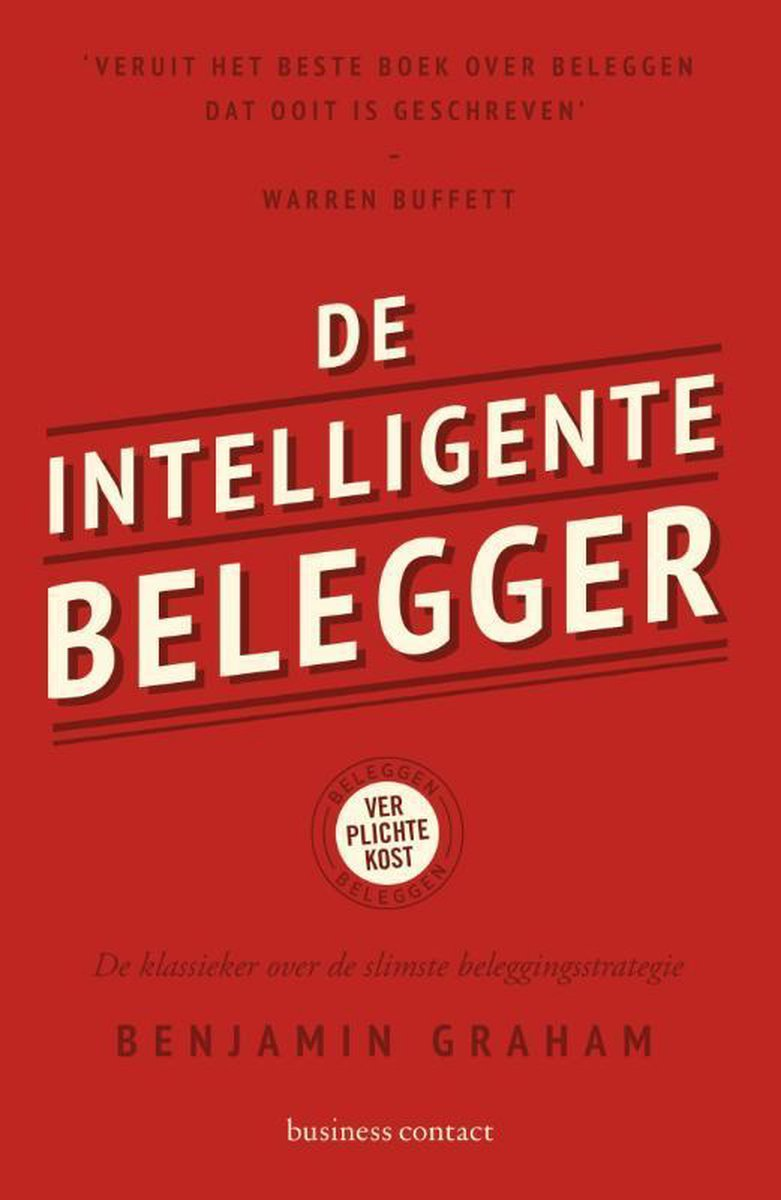 Rode Cover Boek Beleggen Benjamin Graham meester van Warren Buffet